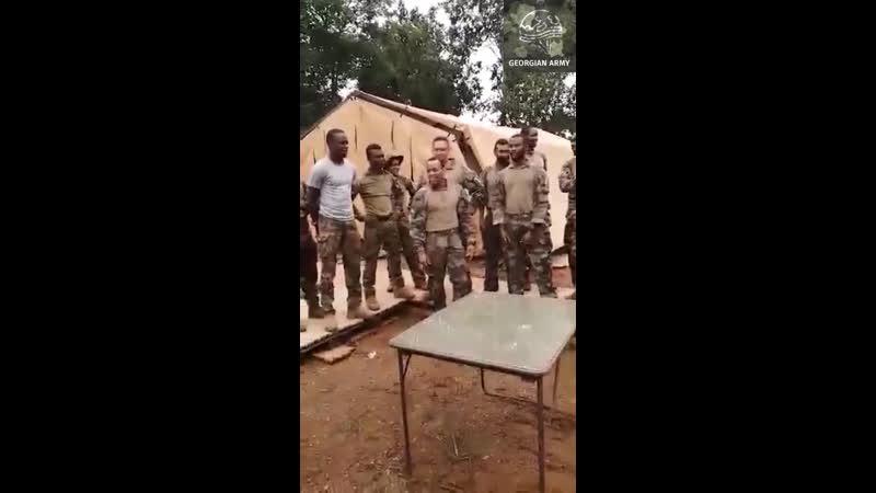 ცენტრალურ აფრიკაში სამშვიდობო მისიის მონაწილე დაუმარცხებელი ქართველი ჯარისკაცი