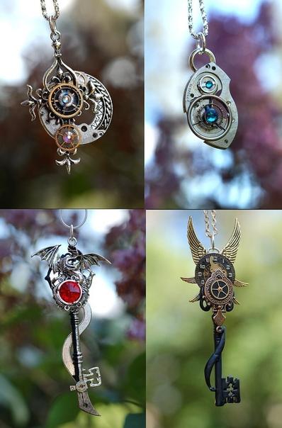 Клокворк-бижутерия от eypers Cove Потрясающие кулоны- ключи делают в мастерской eypers Cove. В августе 2010 года Nicole Jordan из США вместе со своей семьей сестрой и отцом создали свою