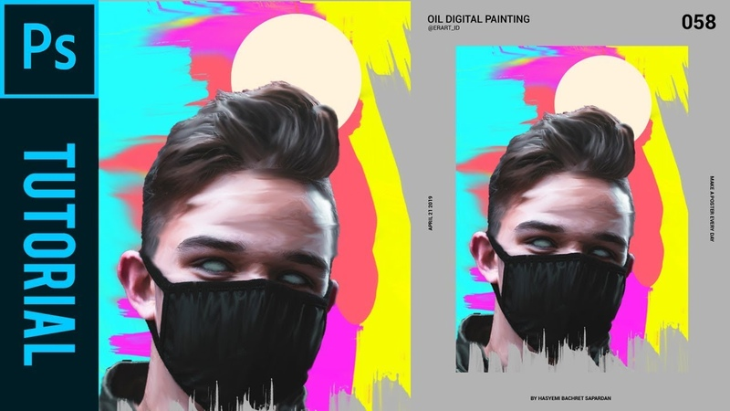 AMAZING Oil Digital Painting Like a Magdiel Lopez - Tutorial Photoshop CC 2019