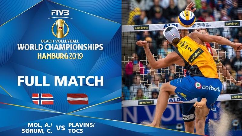 MolSorum vs. PlavinsTocs - Full Match | Beach Volleyball World Champs Hamburg 2019