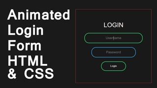 Animated Login Form Using Only HTML & CSS 2020 | Love Code