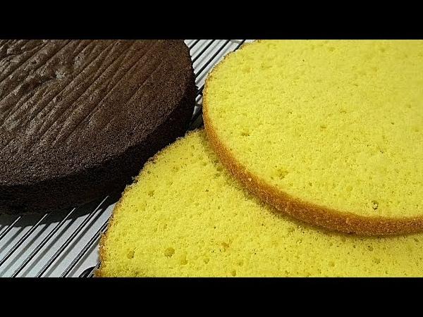 Ручным миксером готовим ВОЗДУШНЫЙ-ПОРИСТЫЙ БИСКВИТVanilla and chocolate biscuit