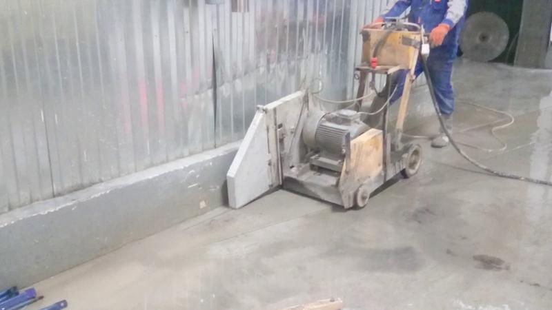 Алмазная резка штроб в ж/б перекрытии на глубину до 300мм