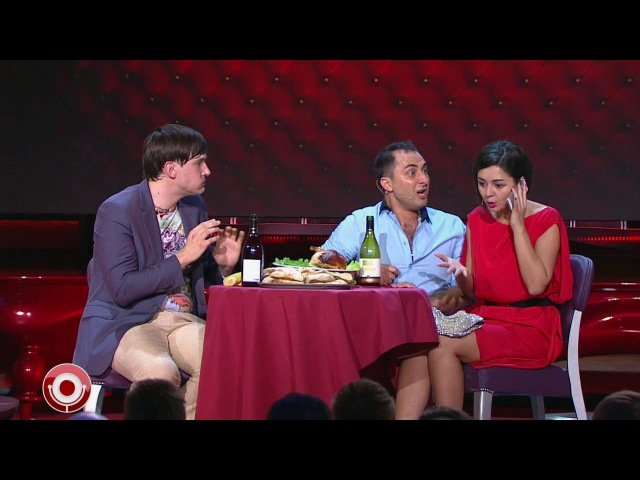 Демис Карибидис, Андрей Аверин и Марина Кравец - Кавказский ресторан