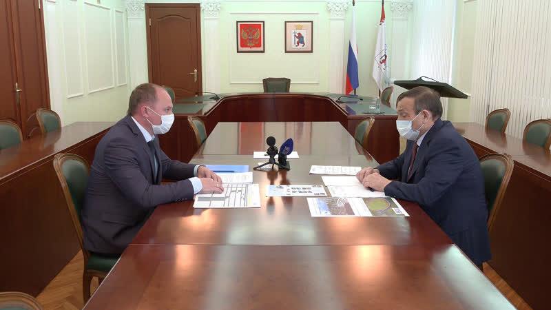 Александр Евстифеев провел рабочую встречу с мэром Козьмодемьянска Михаилом Козловым