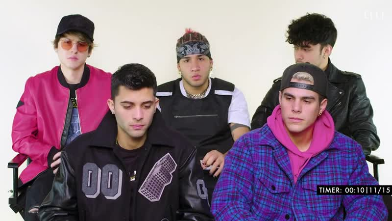 """CNCO Sings """"Mamita,"""" Camilo, and Billie Eilish in a Game of Song Association ¦ ELLE"""
