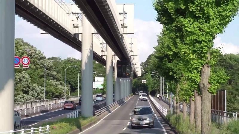 Подвесной монорельс в префектуре Тиба Япония