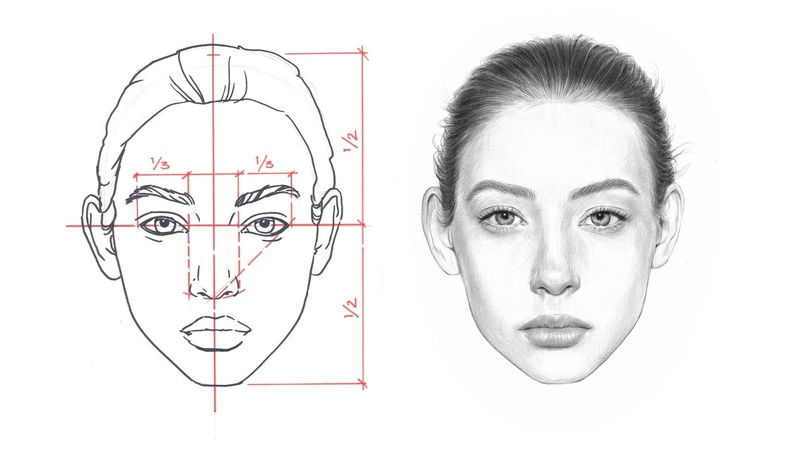 HOW TO DRAW A FACE Face Proportions