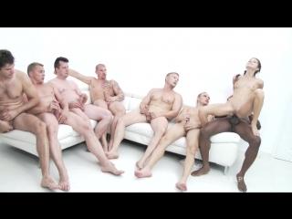 10 man anal gang-bang for Gina Gerson SZ993. Anal, DP!