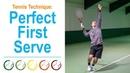 Tennis 1st serve - How to get a better service. - Tennis Technique