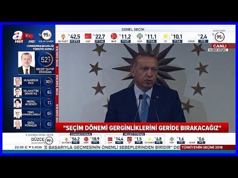 Türkiyenin İlk Başkanı Erdoğanın Huber Köşkünde Konuşması 24.6.2018