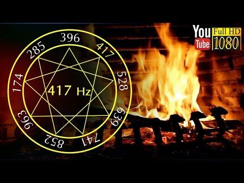 3 heures 🌙 417 Hz ♩ Feu de Cheminée Musique ♩ Sons de la Nature pour Relaxation et Dormir ♩ solfège