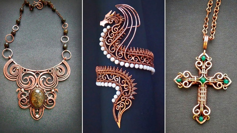 Stunning ideas of jewelry made of copper wire made by own hands
