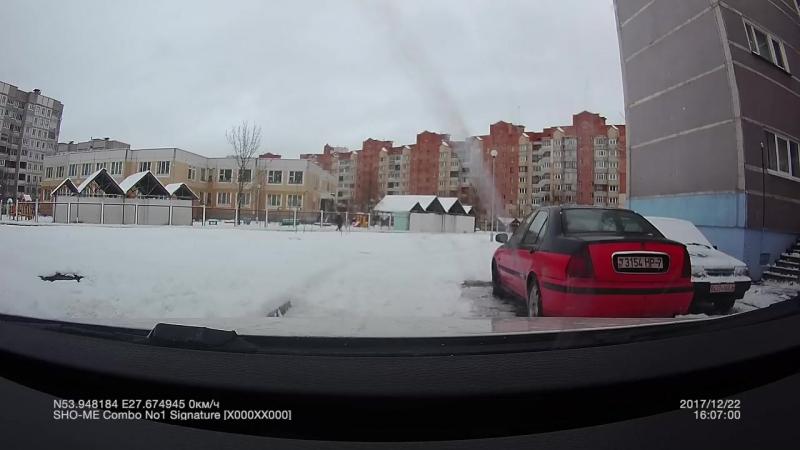 Водитель уехал с места ДТП по ул. Гинтовта 22, Минск