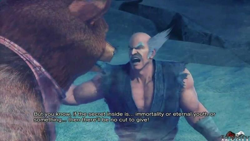 Street Fighter X Tekken : Heihachi Kuma Rival Battle Scene Ending Cinematic [HD]