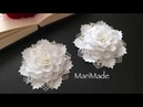 Канзаши Белые Резинки Банты в Школу МК Kanzashi White Flower Bows