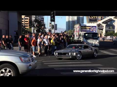 1969 Ford Mustang Mach 40 Leaving SEMA 2012