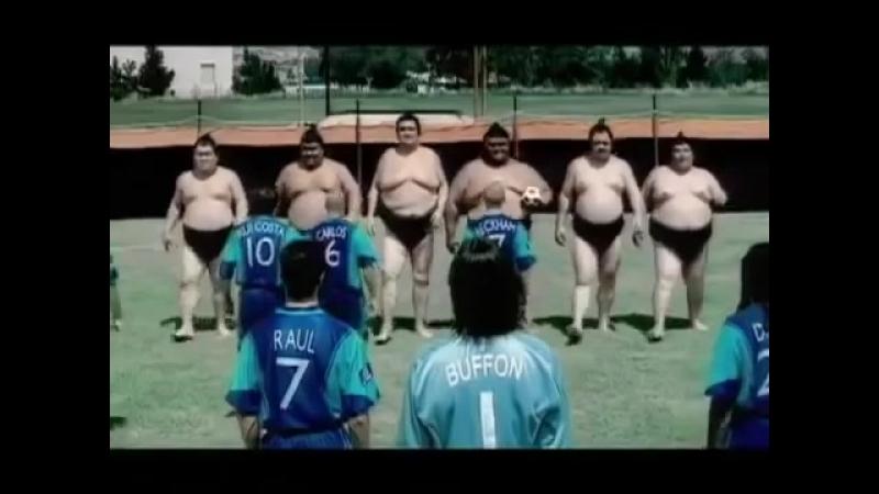 Смешная реклама Пепси Сумоисты против известных футболистов