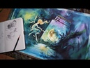 NO 6 Watercolor illust drawing speed drawing 수채화일러스트 컨셉아트