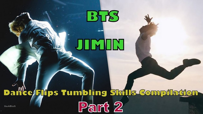 BTS JIMIN Dance Flips Tumbling Skills Compilation Part 2