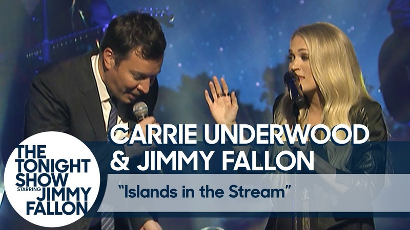 Carrie Underwood and Jimmy Fallon Duet Islands in the Stream Live in Central Park