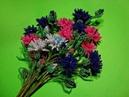 Васильки из бисера Часть 4 7 Полевые цветы из бисера Flowers of cornflower from beads