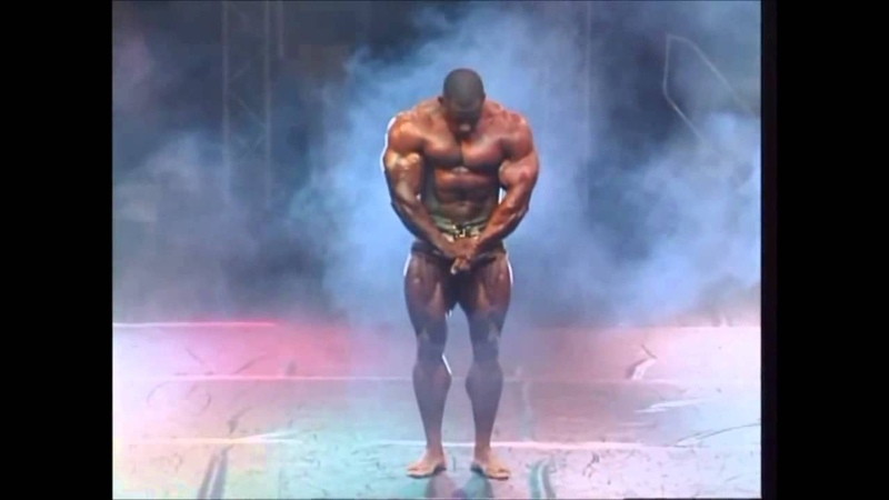 The Bodybuilding Legend Vince Taylor Posing on Stage Available at Prime Cuts Bodybuilding DVDs