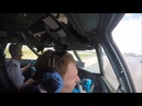 Flying the Yak-40 Cockpit takeoff and landing footage