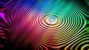 Картинка абстрактная Круги разноцветный волнистый