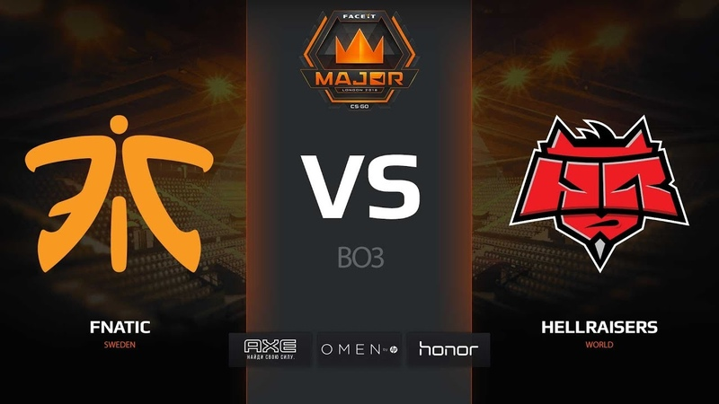 Fnatic vs HellRaisers map 3 cache FACEIT Major London 2018