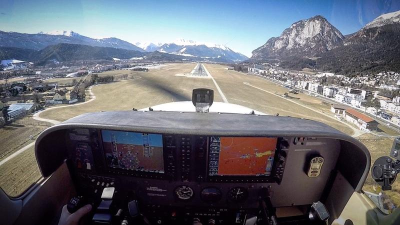Über die Zugspitze nach Innsbruck (LOWI), C172, G1000, VFR, ATC