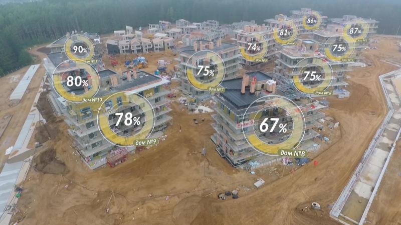 Отчёт о строительстве квартала Пирс 20 августа 2018