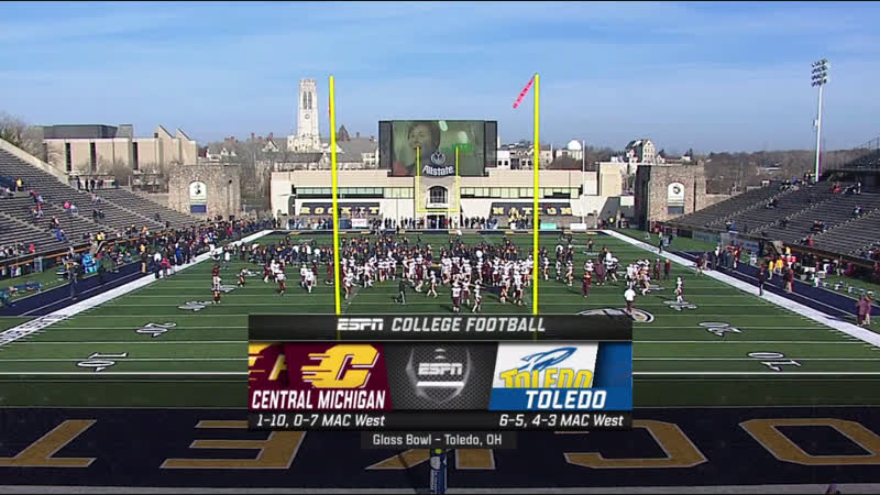 NCAAF 2018 Week 13 Central Michigan Chippewas - Toledo Rockets 1H EN