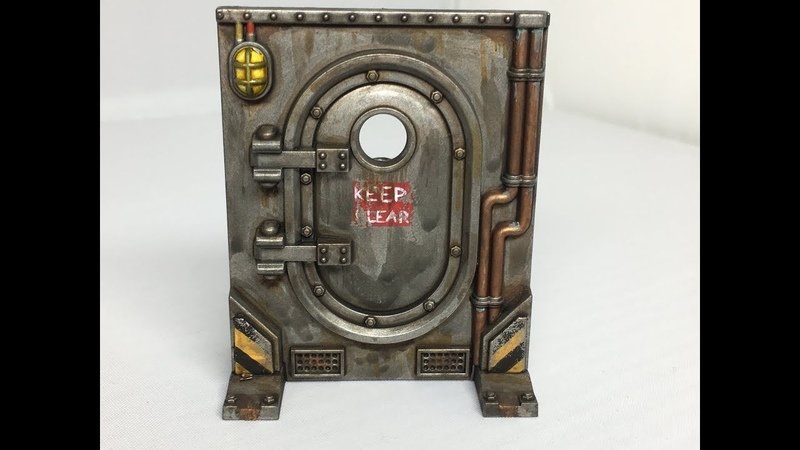 How to Paint Necromunda Scenery part 2 Loot Caskets Doors and Gang Relic