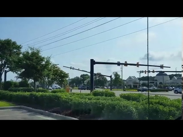 Crane takes out power lines at Military Cutoff and Mayfaire