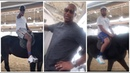 Carmelo Anthony goes horseback ridding in Qatar with Klay Thompson & Tracy McGrady