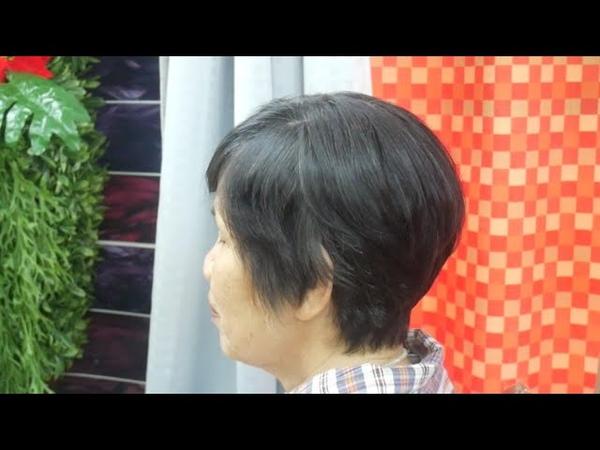 Short haircut tutorial ซอยผมสั้น