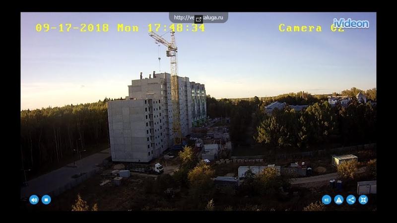 Работа крана Кбм 401 п Стоительство панельного дома