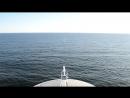 Вид на Балтийское море с парома Gabriella. Нашел проход на палубу под мостиком и заснял это умиротворяющие видео.