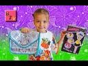 Эльза Холодное сердце сумка-раскраска/frozen/Распаковка/Крестная подарила много игрушек и сладостей