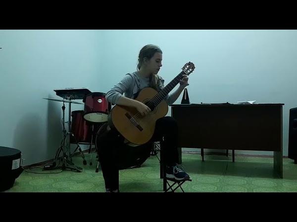 Кошелева Варвара - «Я на камушке сижу» (Иванов-Крамской обр. р.н.п.) и «Рондо» (Ф. Карулли)