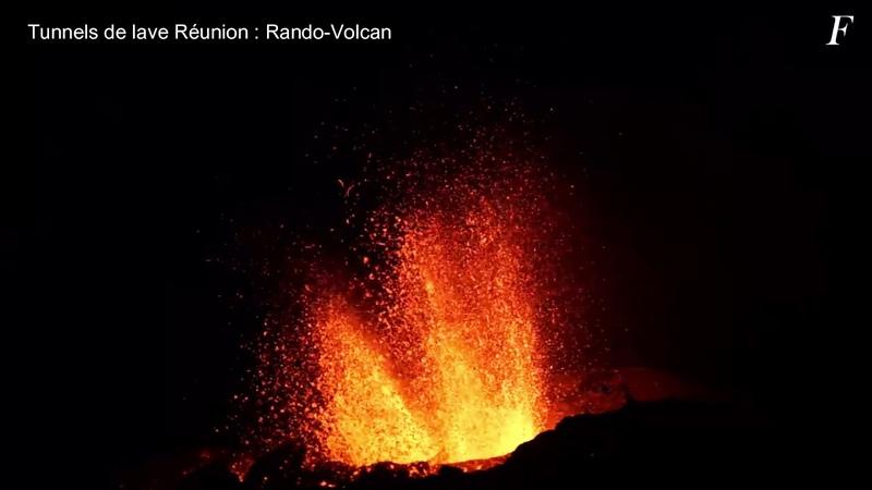Извержение вулкана Питон-де-ла-Фурнез   Volcano Piton de la Fournaise eruption