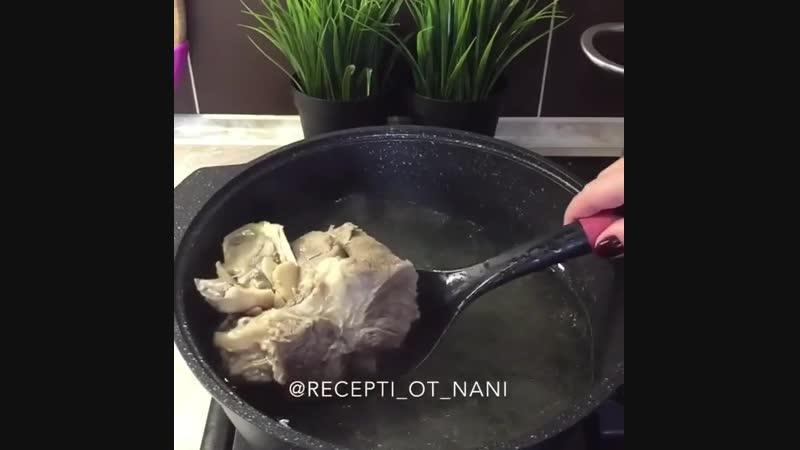 Говяжий суп с нутом