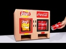 DIY How to Make LAY'S Chips and Coca Cola Vending Machine