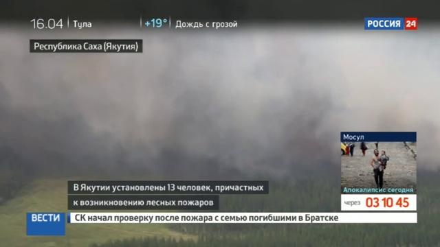 Новости на Россия 24 • В Якутии возбудили уголовное дело против поджигателя леса