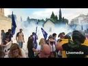 Δακρυγόνα στη Βουλή την ώρα του Συλλαλητηρίου γι