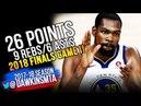 Kevin Durant 2018 Finals Game 1 Golden State Warriors vs Cavaliers - 26-9-6-3Blk! | FreeDawkins