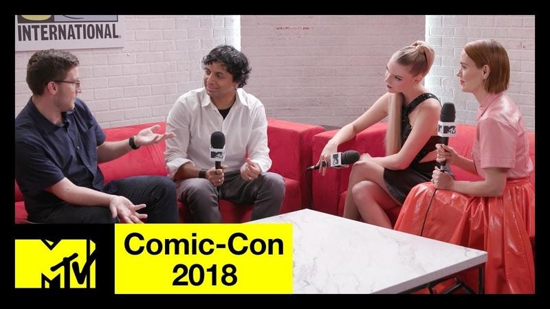 M. Night Shyamalan, Anya Taylor-Joy, Sarah Paulson on Glass | Comic-Con 2018 | MTV