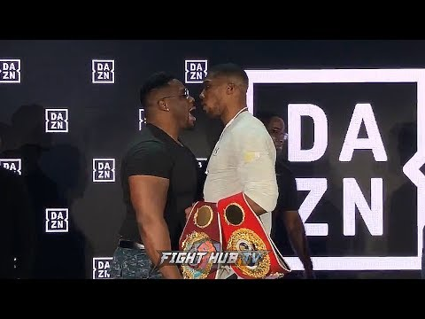 ANTHONY JOSHUA GOES AFTER BIG BABY MILLER AFTER TRASH TALK IN NEW YORK! FIGHTERS GO BACK FORTH!