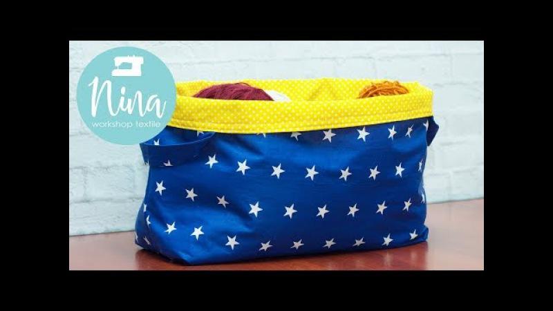 Как сшить интерьерную корзинку - сумку